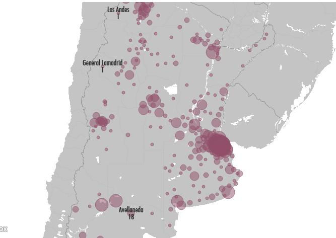 Primer mapa digital que mide contagios en Argentina