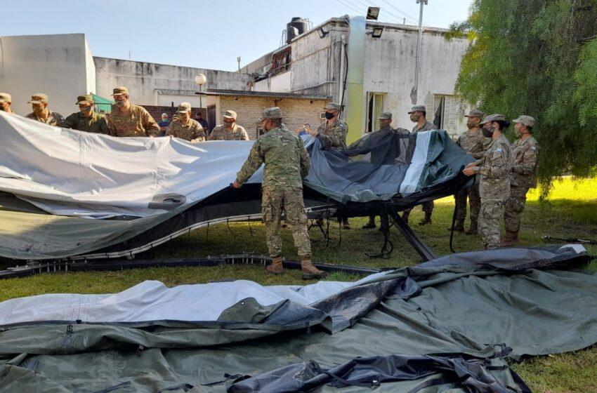 El hospital de campaña comenzará a funcionar en el predio del Liceo Militar Manuel Belgrano